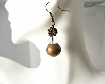 Brown Orgonite® Earrings-EMF Busters
