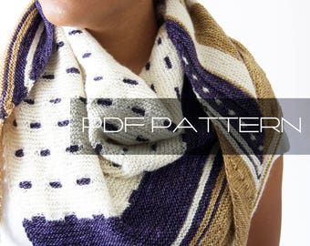 "Knitting Pattern . Shawl . ""Structural Integrity"" . PDF pattern"