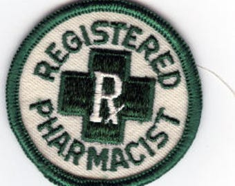 Vintage Registered Pharmacist Patch