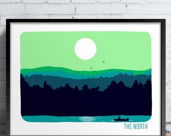 The North Screen Printed Poster