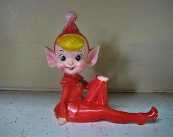 Large Ceramic Pixie Elf Figurine