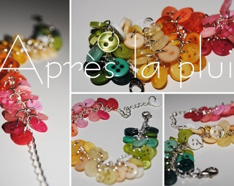 After the rain - Bracelet with buttons