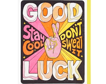 Good Luck, Stay Cool Letterpress Card