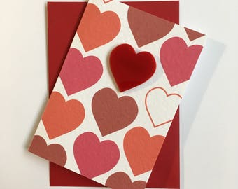 Card Heart & Brooch
