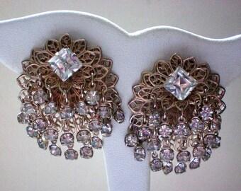 Jingle Jangle Cha Cha Rhinestone Clip Earrings - 5267