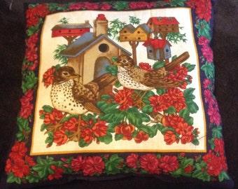 Pillow birds birdhouses
