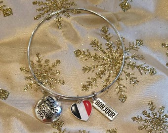 Silver Charm Pairs Bracelet