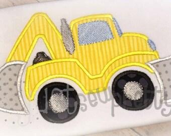Construction Loader Embroidery Applique Design