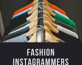 300+ Fashion Instagrammers List - Fashion Influencers, Influencer Marketing, Instagram Marketing | PC MAC | Excel, Sheets, Numbers