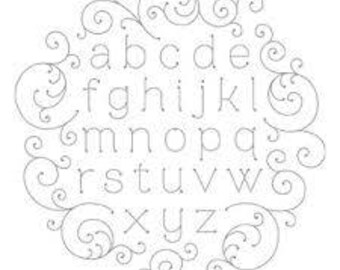 Alphabetized (Clear) - Stampin Up