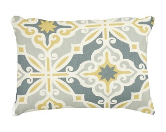 lumbars, blue pillows, blue yellow pillows, 11x16 inch pillow cover, blue chair pillows, decorative pillows, throw pillows, pillow for couch