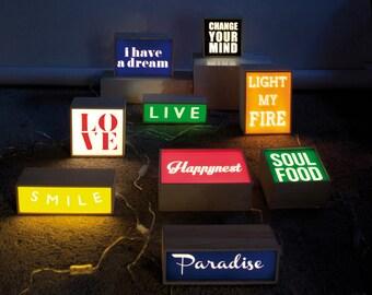 Supreme Inspired Led Lightbox Sign For Home