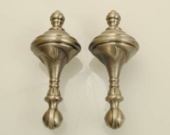 Pewter Finish Door or Drawer Handles 2 Pieces