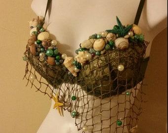 Custom Made Mermaid Costume with Netting