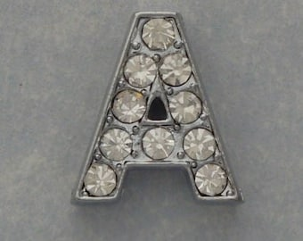 rhinestone letter A for bracelet watch
