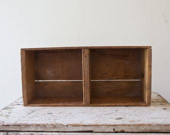 Vintage Crate Box Wooden Bin Wood Storage Box Bathroom Storage Cabinet  Spice Rack Small Vintage Crate