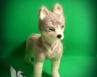 OOAK Hand Made Needle Felted Husky