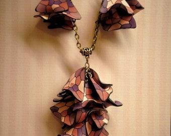 Purple, set, party, handmade, jewelry.