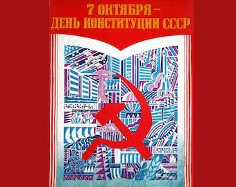 Soviet Constitution Day original poster