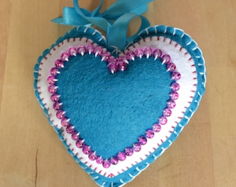 Decorative Heart with Beaded Detail