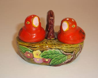 Vintage Chicks Salt and Pepper Set by Marutomoware - Hand Painted 1920's / 1930's  - Made in Japan