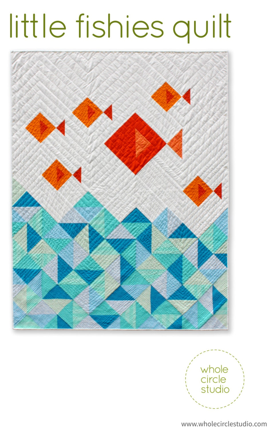 Fish Quilt. PDF pattern only. Modern Quilt. Kids Gift. Baby
