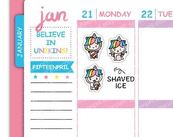 U064- Shaved Ice Unikin stickers
