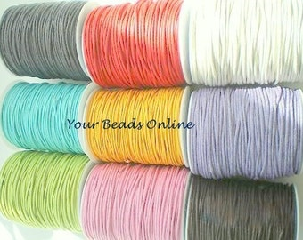 Wax Cotton Cord 1mm 100 yards or 300 feet You Pick a Color 10 Colors 10 yards per Color 25 Colors Availables
