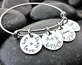 Our Love Story - Family Keepsake - Personalized Mother's Bracelet