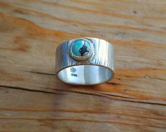Kingman Turquoise Ring, Natural Turquoise, Arizona Turquoise Ring, December Birthstone Ring, Mens Turquoise Ring, Mens Ring