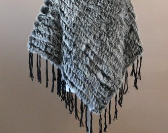 Faux Fur Poncho Cape, Outlander Capelet, Tudor Medieval Cloak, Hood Renaissance Costume, Game of Thrones Cloak, Viking