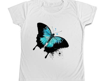 Butterfly watercolour T-shirt