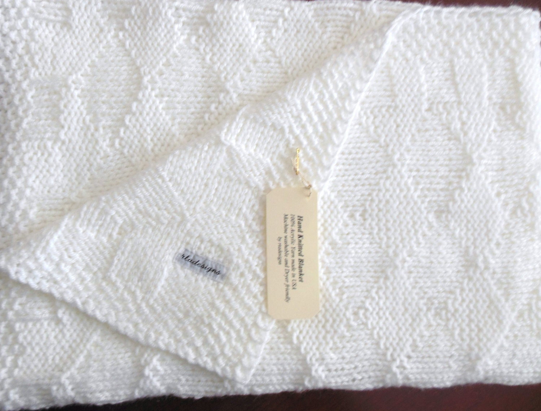 White Baby Blanket perfect Baptism or Christening Blanket