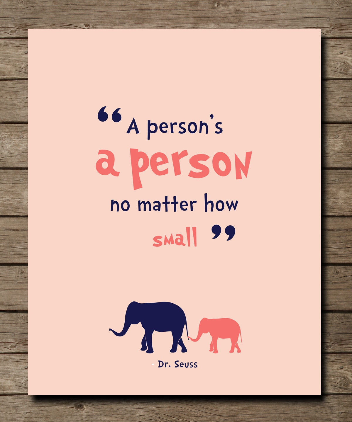 Dr Seuss Weird Love Quote Poster Drseuss Quote A Person's A Person Quote Inspiring