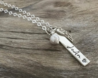Angel Mom | Memorial Necklace| Memorial Gift Idea | Remembrance Jewelry | Sympathy Jewelry | Loss of Mom Dad | Loss of Mother| Sympathy Gift