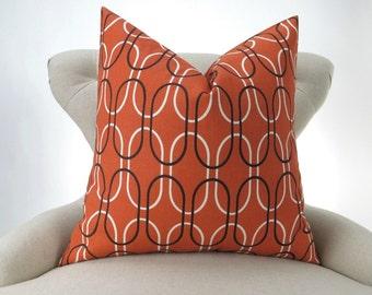 Orange Floor Pillow -up to 28x28 inch- Brown Pillow Cover, Orange Cushion, Large Floor Pillow, Shiba Sweet Potato Premier Prints FREE SHIP