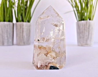 Lodolite Quartz Crystal Tower