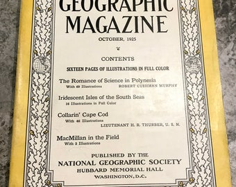 October 1925 National Geographic Magazine