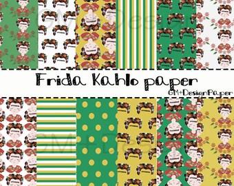 Frida kahlo digital paper/ frida kahlo quote/ frida kahlo instant download/ Frida Kahlo Folklórico/ frida kahlo printables/ Instant Download