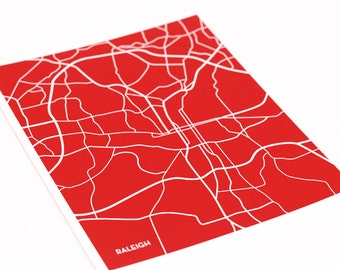 Raleigh Wall Art Print / NC State University College City Map / Grad Gift / 8x10 / Custom Colors