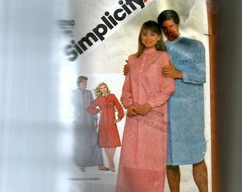 Simplicity Misses' and Men's Pullover Nightshirt In Two Lengths Pattern 5178