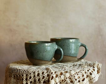 Set of 2 Ceramic Handmade Cups - Ceramic Mug - Tea Mug - Pottery Mug - Gift