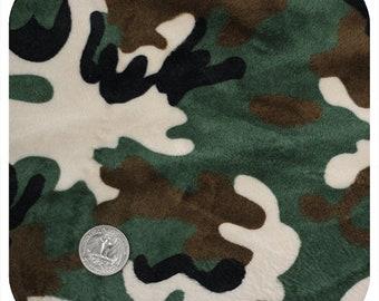 Green Camo Minky Custom Sized Wheelchair Seat Cover