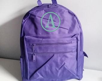 Personalized backpack for girls, Monogram backpack, Toddler backpack, personalized school bookbag,