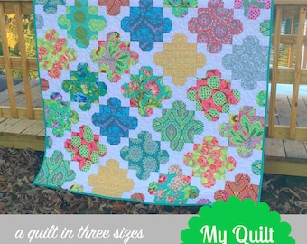 Courtyard Tiles Quilt Pattern