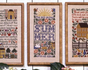 Summer Samplers by Prairie Schooler Counted Cross Stitch Pattern/Chart
