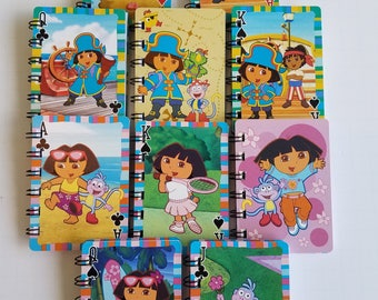20 Upcycled Dora The Explorer Notebooks - Dora Party Favors - Dora Birthday Party - Upcycled Dora Favors - Dora Notepads