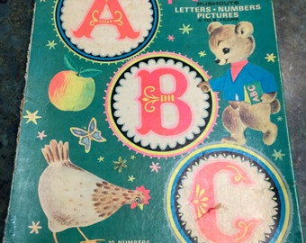 Vintage Artcraft A B C Play and Learn Pushouts 1966 Era