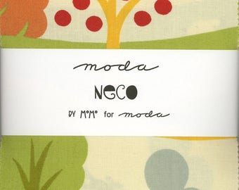 Neco by MoMo Charm Pack from Moda, Set of 42 5-inch Precut Cotton Fabric Squares (16130PP)