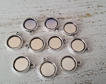 20 Round Cabochon Settings | Fits 12 mm Cabochons | Double Sided Tray Setting | 3011